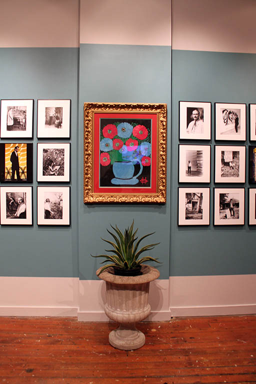 "An installation view of ""Compare and Contrast"" at the Roger Brown Study Center"