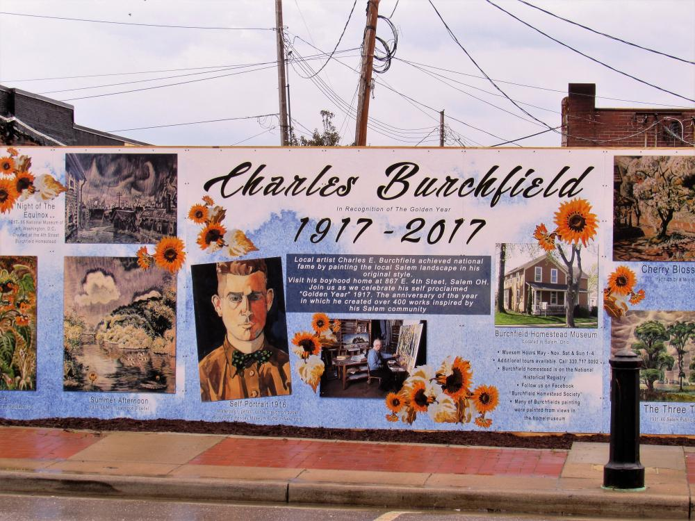 Charles Burchfield mural unveiled in Salem Ohio, Photo: Larry Shields