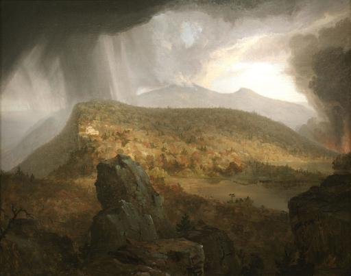 Thomas Cole, Catskill Mountain House; The Four Elements, 1843-44