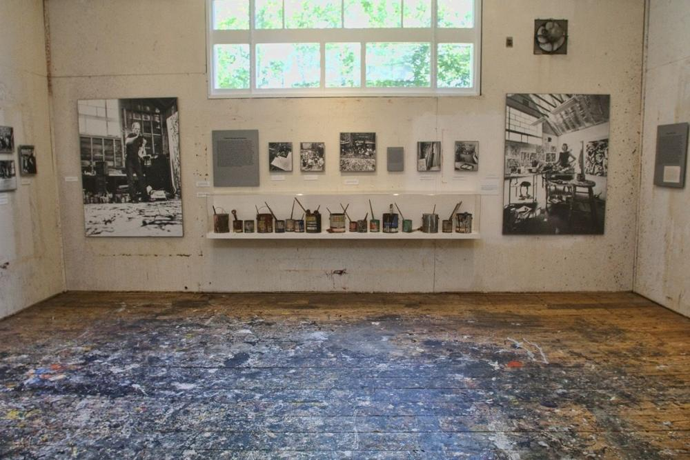 Image: Pollock-Krasner studio. Photo by John Griffin. Courtesy of the Pollock-Krasner House and Study Center.