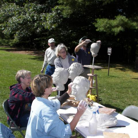 Sculpture class at the Saint-Gaudens National Historic Site