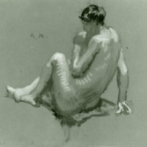 sketch of a nude female was among four pieces of art donated to the Gari Melchers Home and Studio.