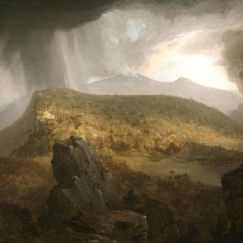 Thomas Cole, Catskill Mountain House; The Four Elements, 1843-44