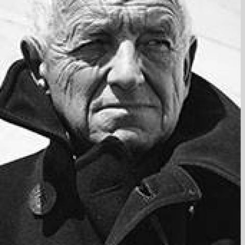 Black and White photograph of artist Andrew Wyeth