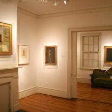 Installation shot of exhibition Edward Hopper: Prelude, the Nyack Years, 2011