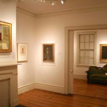 Installation shot of exhibition Edward Hopper: Prelude, the Nyack Years, 2011