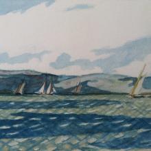 "Edward Hopper, ""Yachting Scene,"" ca. 1905 Collection of Steve Oifer"