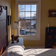 Edward Hopper's view of the Hudson River from his bedroom window