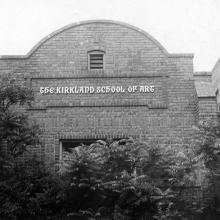 Façade of Vance Kirkland's Kirkland School of Art (active 1932–1946), also used as his studio until his death in 1981.