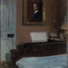 """Edward Hopper """"(Artist's Bedroom, Nyack),"""" c. 1905-1906 Whitney Museum of American Art, NY; Josephine N. Hopper Bequest 70.1412 © Heirs of Josephine N. Hopper, licensed by the Whitney Museum of American Art"""