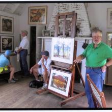 Kent—Fitzgerald Historic Artists' Studio, 2015. Studio hours. Fitzgerald Legacy Archives. photo credit: John Lawrence, 2015.