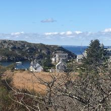 Kent-Fitzgerald house-viewshed-2017. View from Kent-Fitzgerald Home, 2017. The view from the Kent-Fitzgerald Historic Artists' Home today. Fitzgerald Legacy Archives.