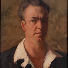 James Fitzgerald, September 1932 (self-portrait) Oil on canvas, 19 1/4 x 16 in., James Fitzgerald Legacy