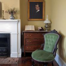 Corner of Hopper's bedroom and studio displaying Self Portrait