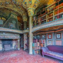 Fonthill Castle Library Courtesy of Mercer Museum and Fonthill Castle- photography by Kevin Crawford Imagery LLC.jpg