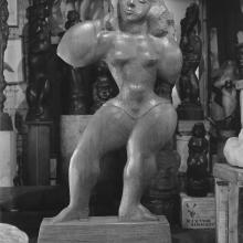 """Victoria"", 1951, mahogany, 70 x 38 x 9 inches, collection of the Renee & Chaim Gross Foundation. Credit: © Soichi Sunami."