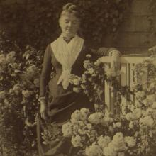 Mary Nimmo Moran in her Garden Credit East Hampton Library