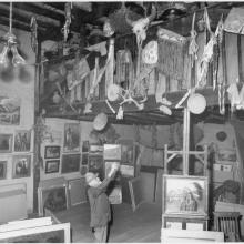 Sharp in his second studio in the early 1950s.