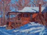 Home of Impressionist painter T.C. Steele painted by contemporary plein air artist Thom C. Robinson